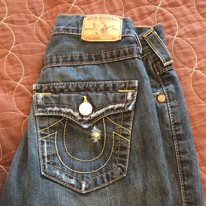 "True Religion distressed ""Jordan"" jeans 24"